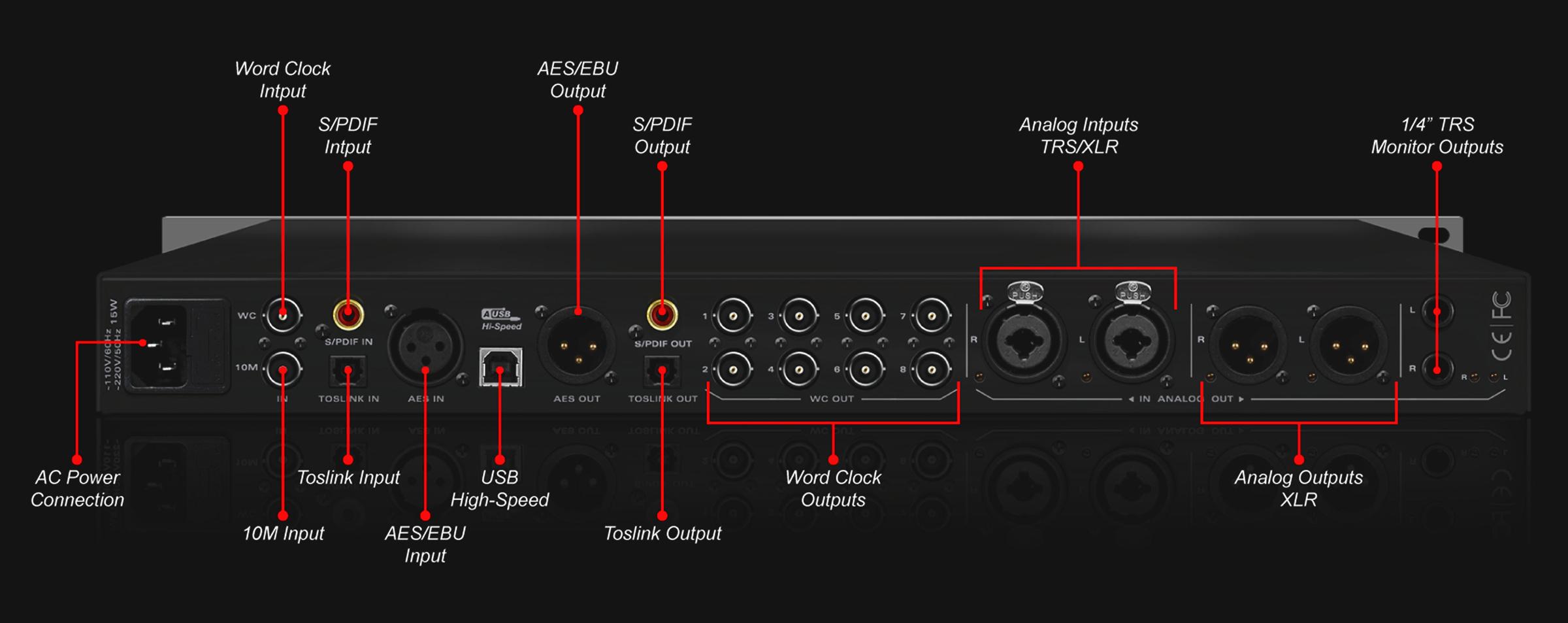 Pure 2 Mastering Ad Da Converter Amp Clock Antelope Audio