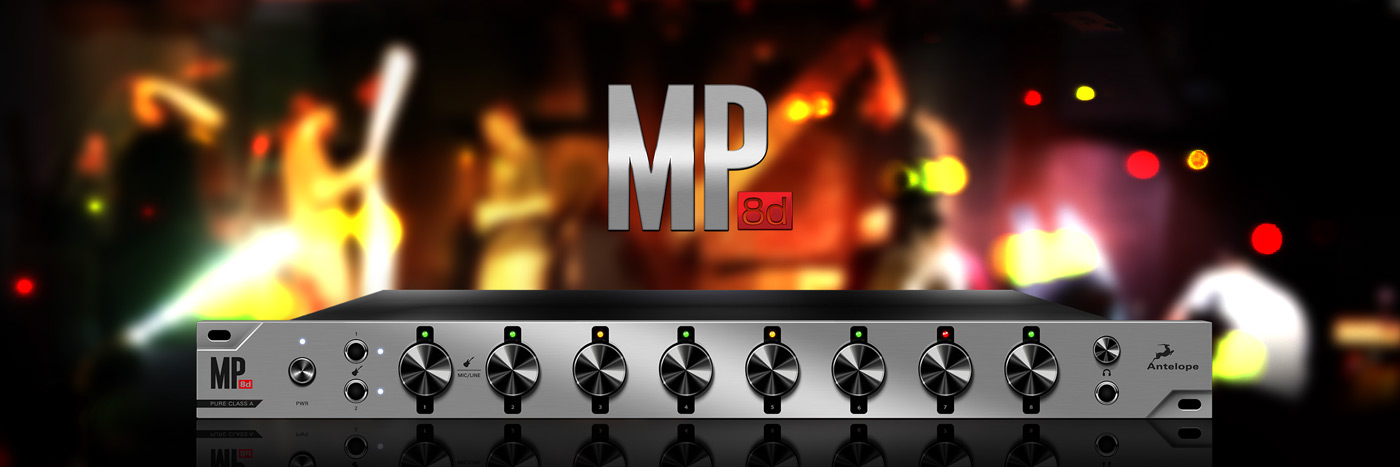 MP8d - 8-channel Mic Preamp Featuring Antelope's World Class A/D Conversion