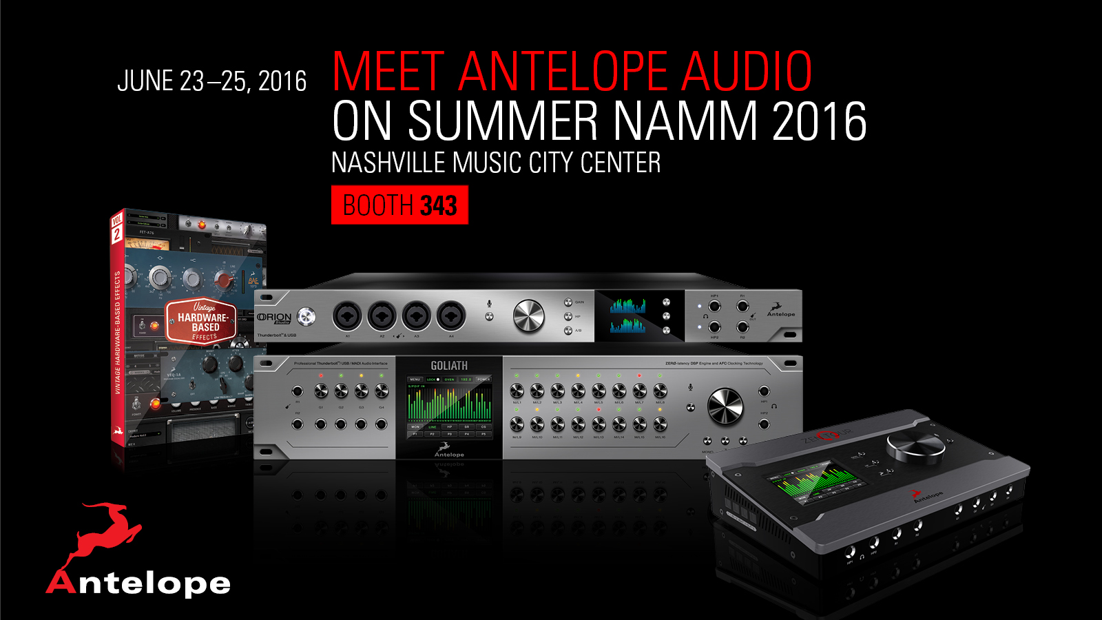 The Guitarists' Interface: Antelope Audio Brings Guitar FX and Amp Simulation to New Heights at Summer NAMM
