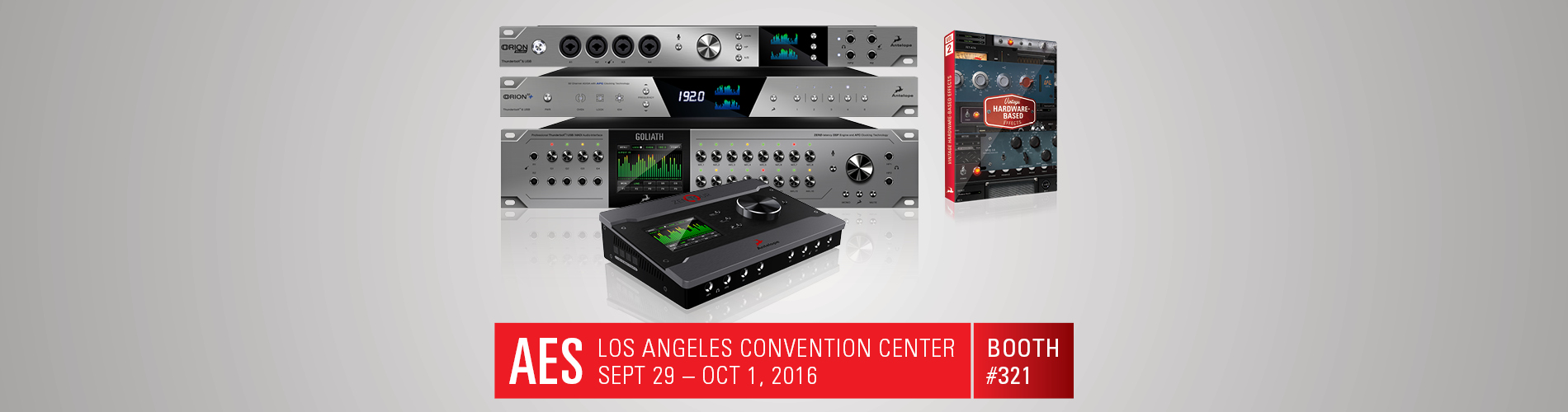 Antelope Audio to Showcase FPGA-Based Vintage FX, Along with its Latest Thunderbolt™ Interfaces and LiveClock