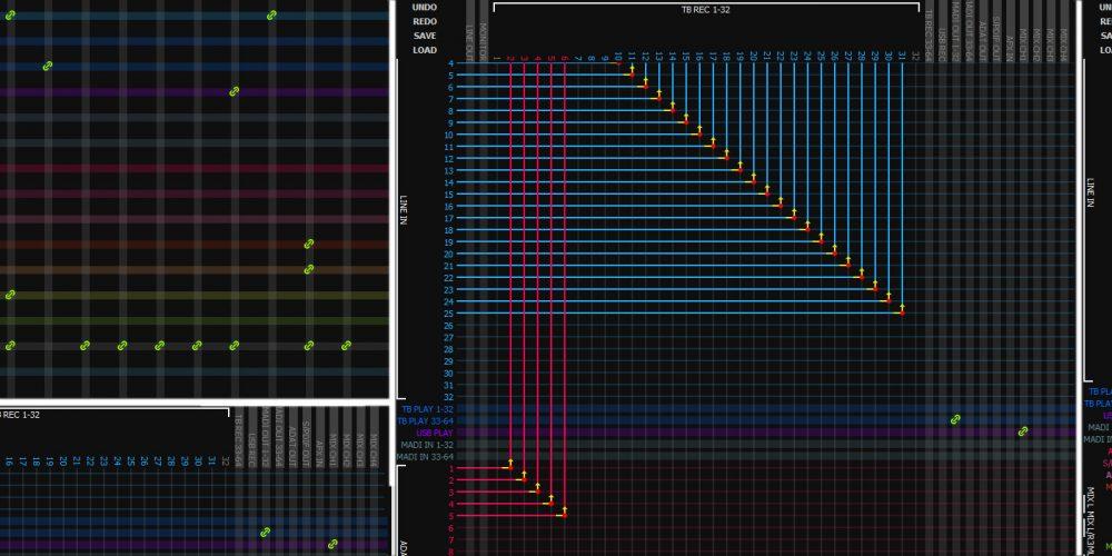 Nueva matriz de enrutamiento de audio de Antelope