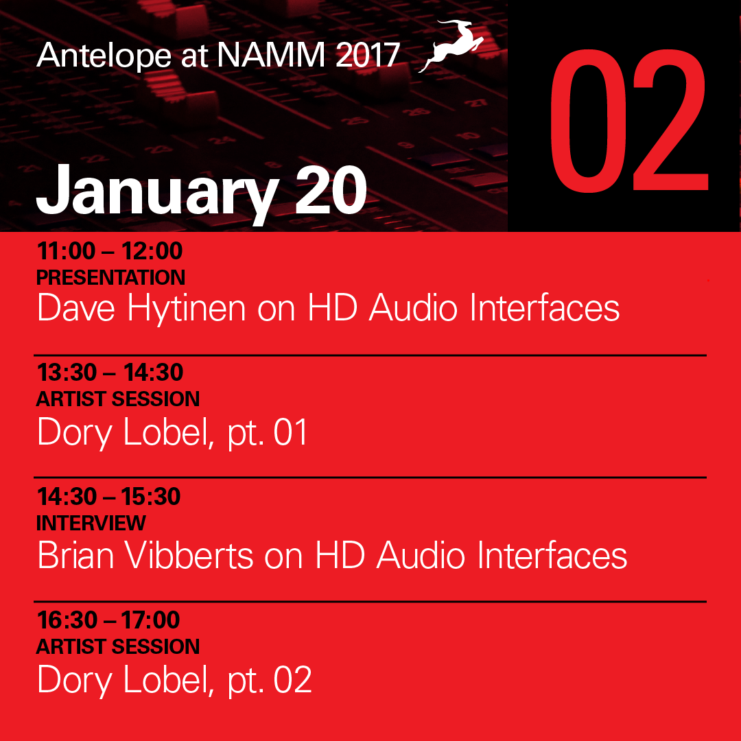NAMM 2017 - Day 2 agenda
