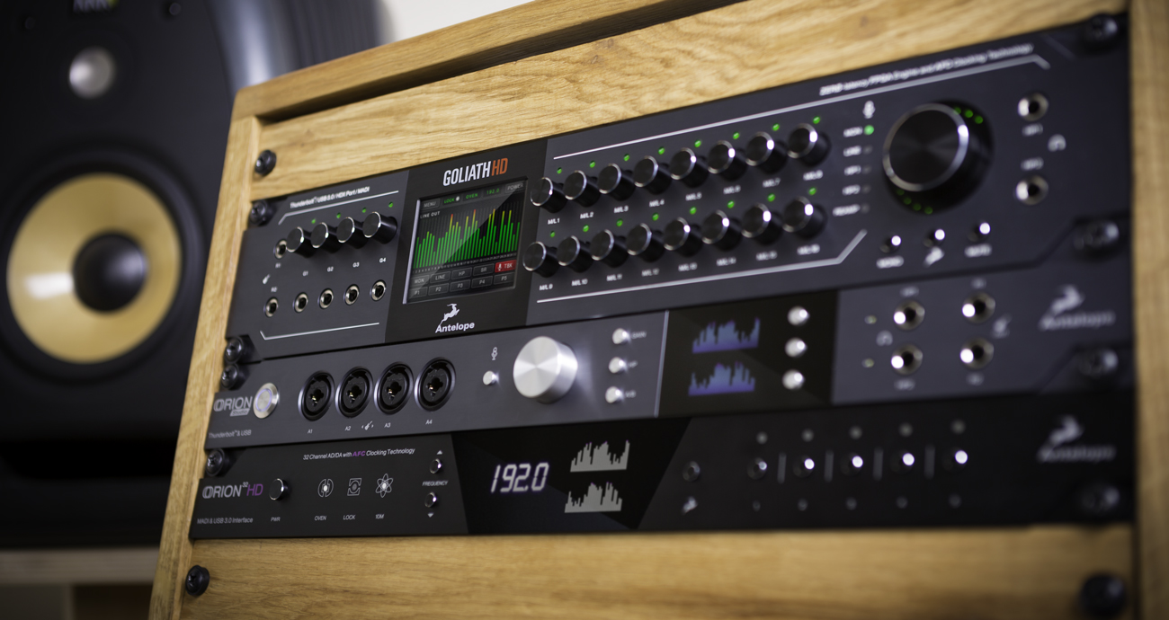 Antelope Audio Now Accepting Preorders on Goliath HD and Orion Studio 2017 Interface Now Shipping