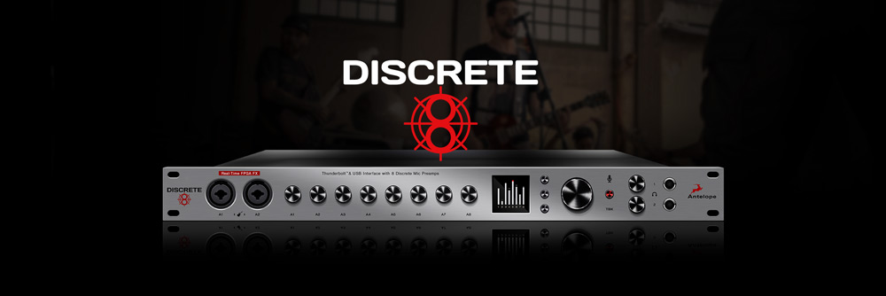 Discrete 8 Microphone Preamp Interface | Antelope Audio