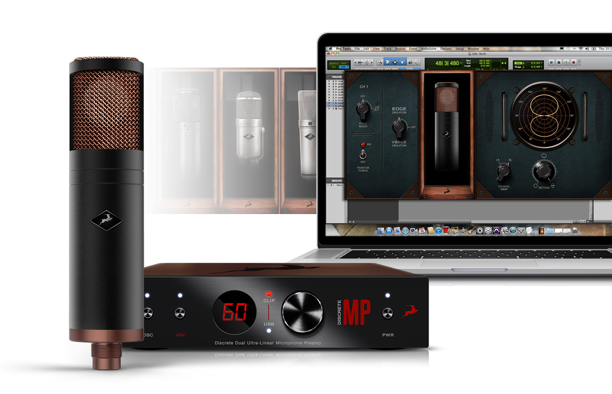 Edge Strip Antelope Audio Microphone Preamplifier With Tlc251 The Mic Discrete Mp Preamp And Fusion Afx Pack Plug Ins Is An All In One Solution For High Quality Recording That Adds Endless