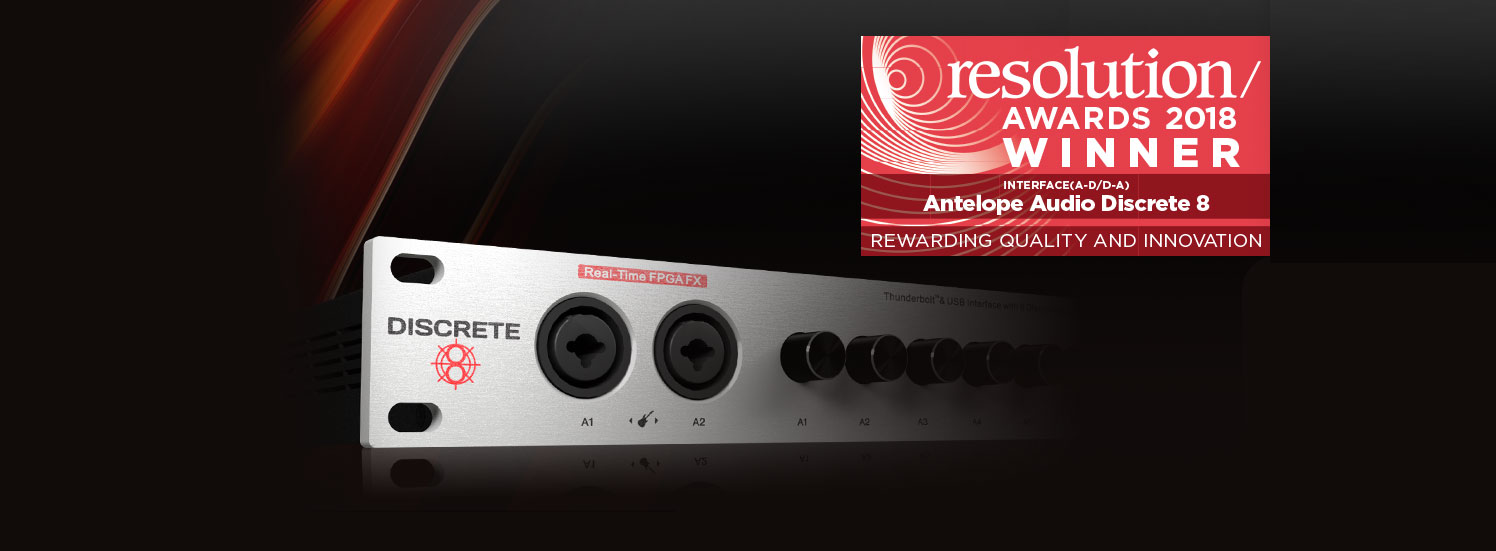 Discrete 8 voted Best Interface by the Resolution Magazine readers