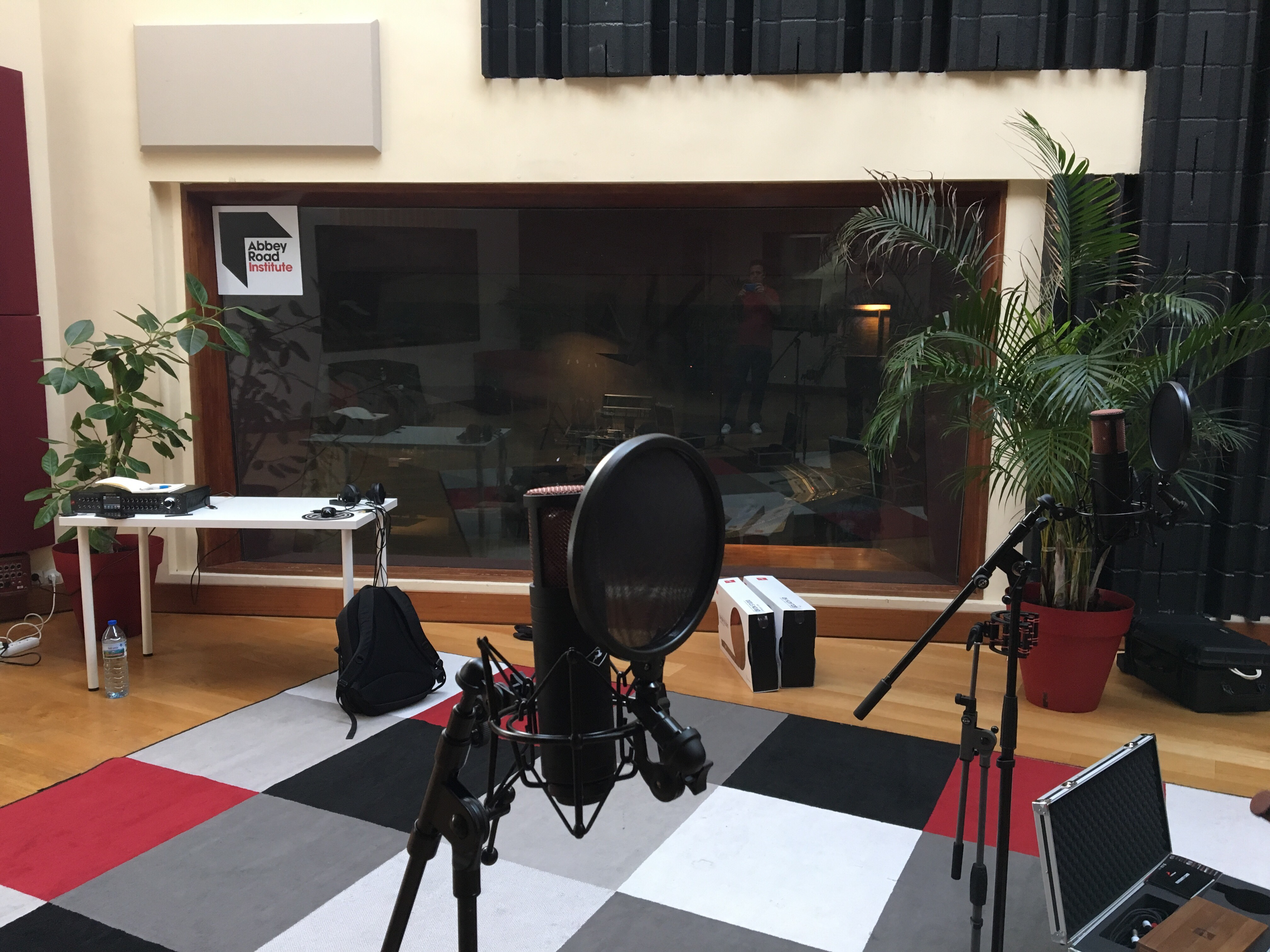 The recording room at the Abbey Road Institute Paris