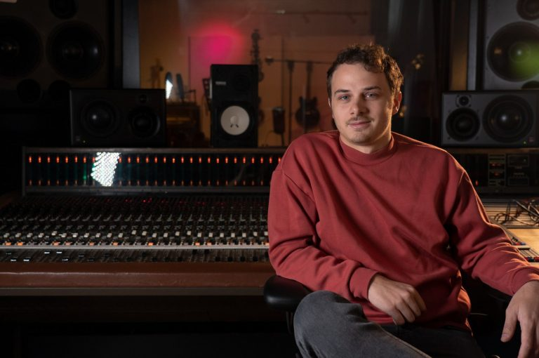 Ricky Damian sitting in the studio with Antelope Audio